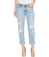 Liverpool - Cameron Cropped Relaxed Boyfriend Soft Rigid Denim in Stockton Destruct