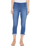 Liverpool - Sienna Pull-On Rolled-Cuff Capris in Silky Soft Denim in Coronado Mid