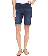 Liverpool - Sienna Pull-On Rolled-Cuff Bermuda in Silky Soft Denim in Elysian Dark