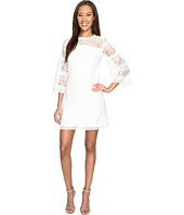 Laundry by Shelli Segal - 3/4 Sleeve Venise Dress w/ Scallop Hem