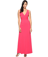 Laundry by Shelli Segal - V-Neck Gown w/ Cut Outs