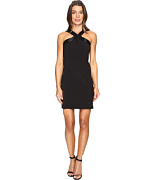 Laundry by Shelli Segal - Cross Front Beaded Cocktail Dress