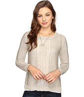 Lucky Brand - Metallic Mixed Sweater