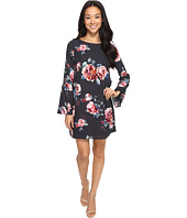 Brigitte Bailey - Catie Long Sleeve Shift Dress with Bell Sleeves