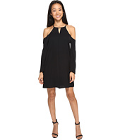 Brigitte Bailey - Bryanne Cold Shoulder Shift Dress with Keyhole