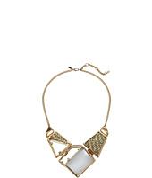 Alexis Bittar - Geometric Woven Raffia Bib Necklace