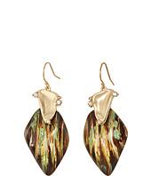 Alexis Bittar - Wood Grain Wire with Satellite Crystal Detail Earrings