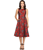 Adrianna Papell - Sleeveless Jacquard Tea Length Dress