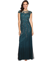 Adrianna Papell - Illusion Neckline Embellished Gown