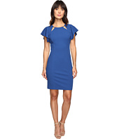 Ivanka Trump - Scuba Crepe Dress with Ruffle Sleeves