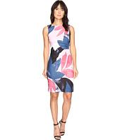 Ivanka Trump - Printed Scuba Crepe Oversized Floral Starburst Dress