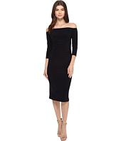 KAMALIKULTURE by Norma Kamali - Off Shoulder Shirred Waist Dress