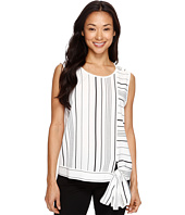Vince Camuto - Sleeveless Pencil Stripe Tie Front Blouse