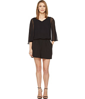 Vince Camuto - Sheer Overlay Romper