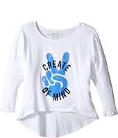 The Original Retro Brand Kids - Create Peace of Mind High-Low 3/4 Sleeve (Big Kids)