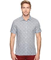 Perry Ellis - Short Sleeve Linen Paisley Shirt