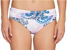 Paisley Leaves High-Waist Sash Bikini Bottom