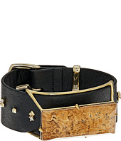 Alexis Bittar - Geometric Leather Band Buckle Bracelet with Custom Baguette