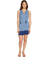 Tommy Bahama - Shibori Splash Split-Neck Swim Dress Cover-Up