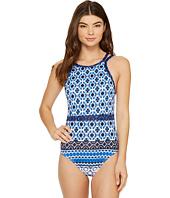 Tommy Bahama - Shibori Splash High-Neck One-Piece Swimsuit