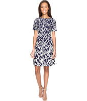 Adrianna Papell - Printed Dancing Sticks Scuba Crepe No Waist Fit and Flare Dress