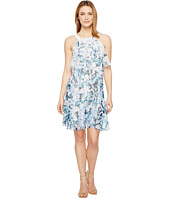 Adrianna Papell - Floral Cascade Printed Chiffon Tiered Sleeveless Shift Dress