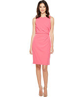Adrianna Papell - Lined Stretch Crepe Sheath Dress