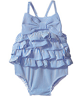 Mud Pie - Seersucker Ruffle Bow Swimsuit (Infant/Toddler)
