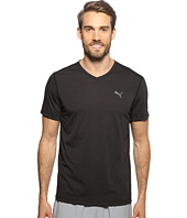 PUMA - Essential Short Sleeve V-Neck Stripe