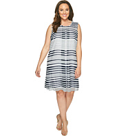 Calvin Klein Plus - Plus Size Printed Inverted Pleat Dress
