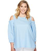 Calvin Klein Plus - Plus Size 3/4 Sleeve Cold Shoulder Top