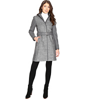 Vince Camuto - Belted Mixed Media Wool Jacket L1151