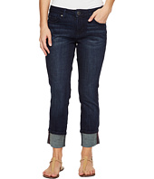 Jag Jeans Petite - Petite Maddie Skinny Cuff in Crosshatch Denim in Night Breeze