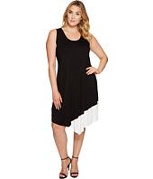 Karen Kane Plus - Plus Size Color Block Asymmetric Hem Tank Dress