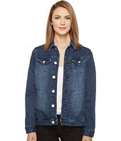 Jag Jeans - Lowen Stretch Jacket in Crosshatch Denim in Thorne Blue