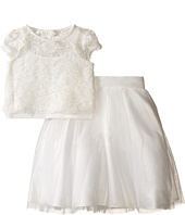 Us Angels - Satin & Lace Two-Piece Popover Bolero & Layered Skirt (Little Kids)