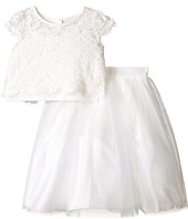 Us Angels - Satin & Lace Two-Piece Popover Bolero & Layered Skirt (Big Kids)