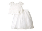 Satin & Lace Two-Piece Popover Bolero & Layered Skirt (Big Kids)