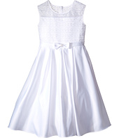 Us Angels - Organza & Satin Sleeveless Dress w/ Box Pleat (Little Kids/Big Kids)