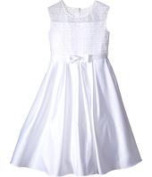 Us Angels - Organza & Satin Sleeveless Dress w/ Box Pleat (Little Kids/Big Kids)