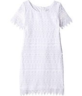 Us Angels - Sleeveless Sheath w/ Lace Overlay Dress (Big Kids)