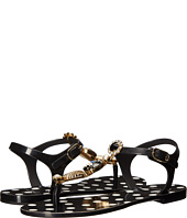Dolce & Gabbana - Thong Jelly Sandal with Jewel and Shell