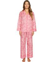 Oscar de la Renta Pink Label - Pajama Printed Cotton Lawn Set