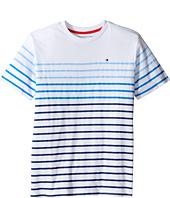 Tommy Hilfiger Kids - Printed Stripe Crew Tee (Big Kids)