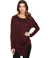 Culture Phit - Blithe Long Sleeve Drape-Front Top