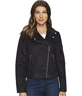 "Marc New York by Andrew Marc - Farryn Faux Suede 21"" Moto Jacket"