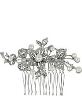 Nina - Ladee Crystal Pearl Floral Comb