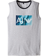 Armani Junior - Logo Wave Tank Top (Toddler/Little Kids/Big Kids)