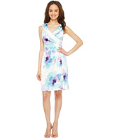 Tahari by ASL - Floral Side Ruche Sheath Dress