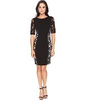 Sangria - Lace Side Sheath Dress